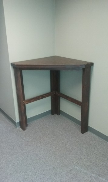 Custom Commercial Bar Height Corner Desk