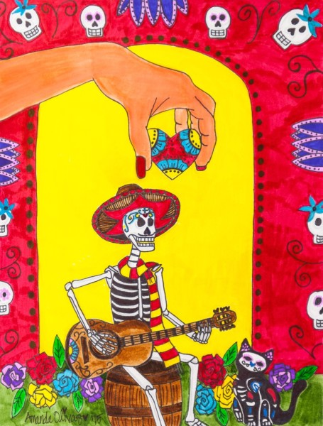 "Dia de los Muertos Art - Whimsical Artwork by Amanda Johnson - ""Song for the Soul"", Day of the Dead Arts and Prints"