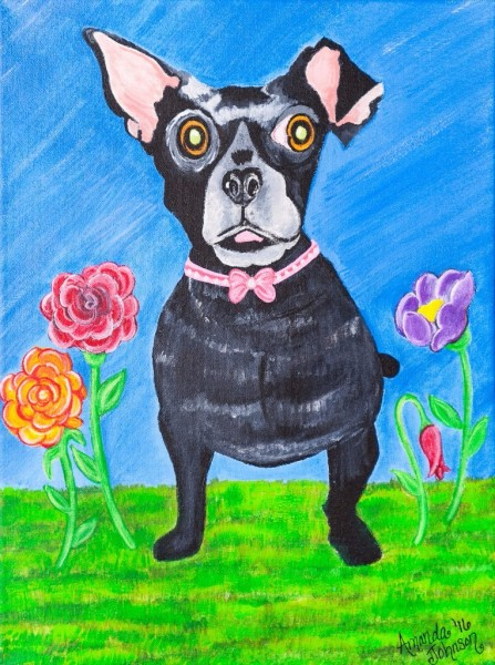 "Whimsical Dog Art by Amanda Johnson - ""Doggone Delightful"", whimsical dog art and prints"