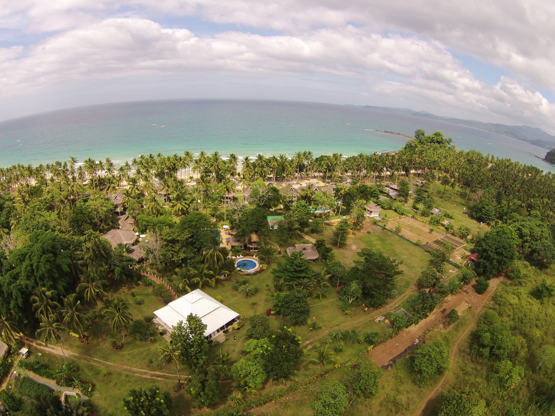 Aerial Shot of Daluyon Beach & Mountain Resort