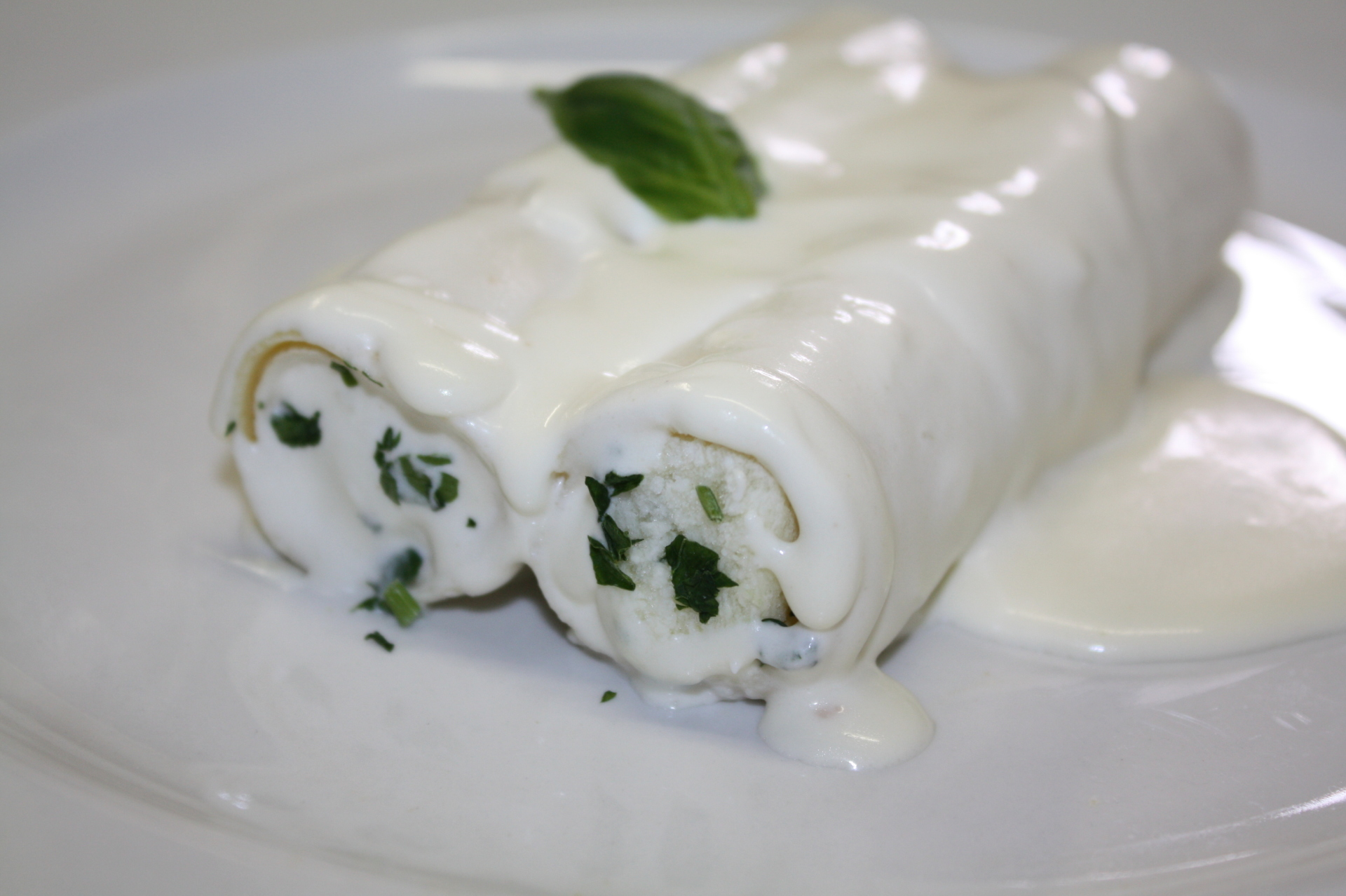 Cream Manicotti Price $24 (10pcs)