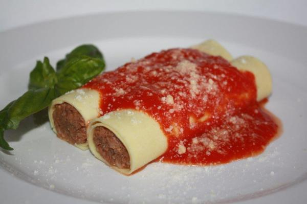 Homestyle Meat Cannelloni Price $22