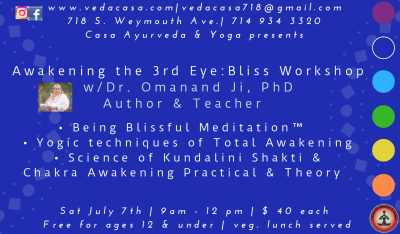 Awakening the Third Eye: Bliss Workshop with Dr. Omanand Guruji