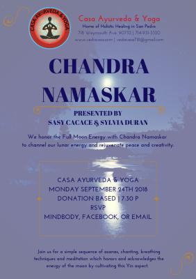 Chandra Namaskar Moon Meditation