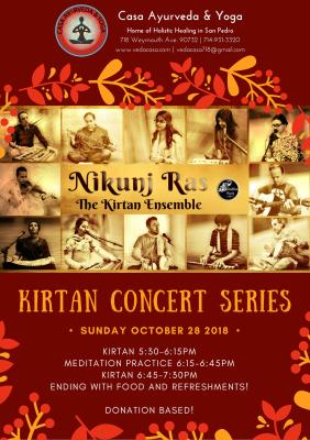 Kirtan Concert by Nikunj Ras Kirtan Ensemble