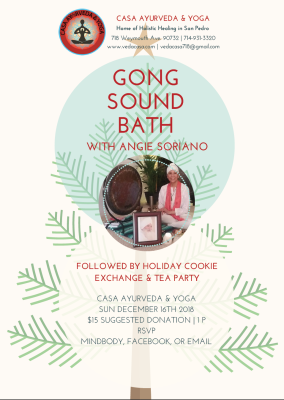 Gong Sound Bath with Cookie Exchange & Tea Party