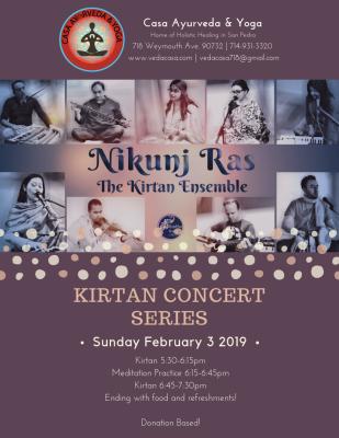 Kirtan Concert Series by Nikunj Ras Kirtan Emsemble