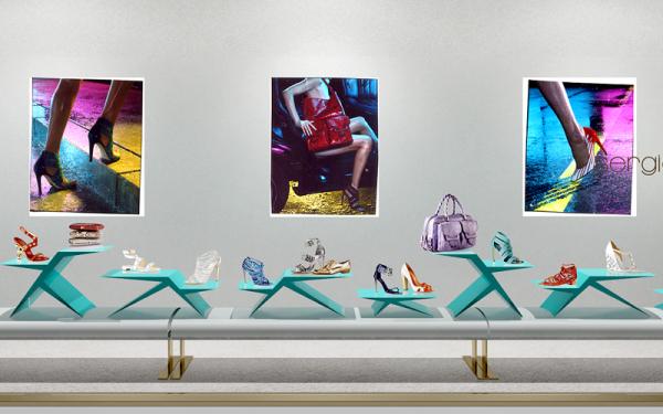 SERGIO ROSSI visual displays
