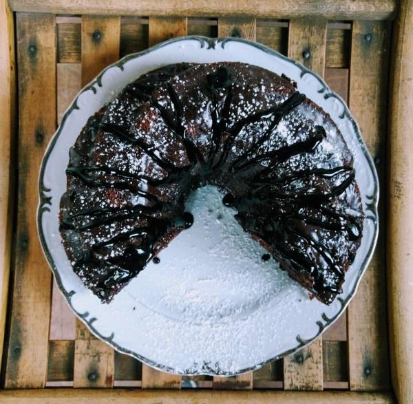 Dark Chocolate Guinness Bundt Cake