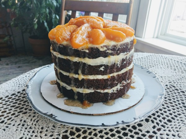 Carrot Cake with Peaches