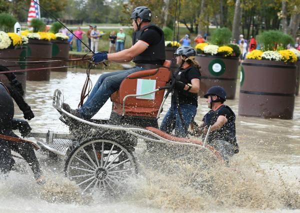2017 Kentucky Classic CDE FEI 2*  water hazard