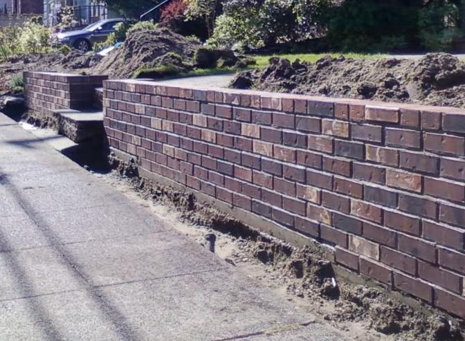 Brick Protective Wall