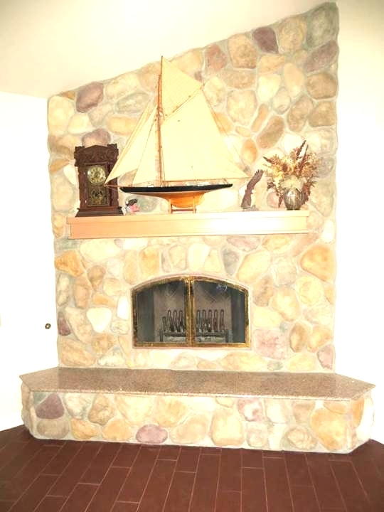 River Rock Fire Place