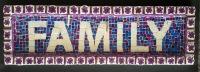 Photo, mosaic, family, purple