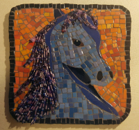 mosaic, horse, beads