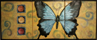 #mixmedia, #acrylic #butterfly