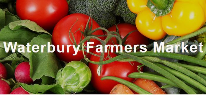 Waterbury Farmers Market logo: a group of colorful veggies.  http://www.waterburyfarmersmarket.com