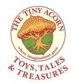 Logo for The Tiny Acorn, Toys, Tales & Treasures in Waterbury, Vermont