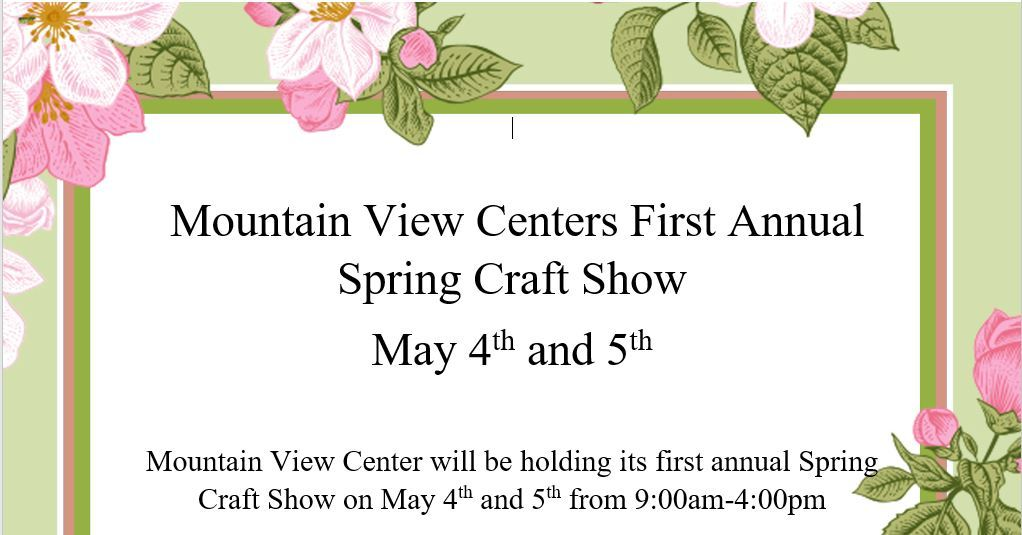 Logo for the 2018 Spring Craft Fair at Mountain View Center in Rutland Vermont