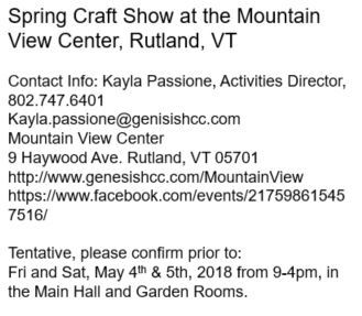 art show, art fair, shopping, crafts, spring, made in vt