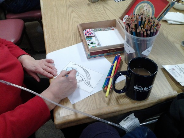 Photo of Easter Berry Card coloring socialite, coloring some Easter Cards!