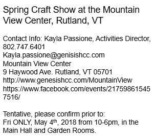 art show, art fair, shopping, crafts, spring, made in vt