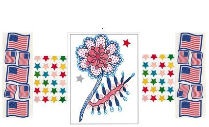 Photo of the Red, White & Blue Memorial Day example for Wed, May 23rd, 11am-2pm coloring social.
