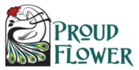 Logo for Proud Flower, 80 South Main Street • On the Park • Waterbury, VT 05676; 802-244-6853