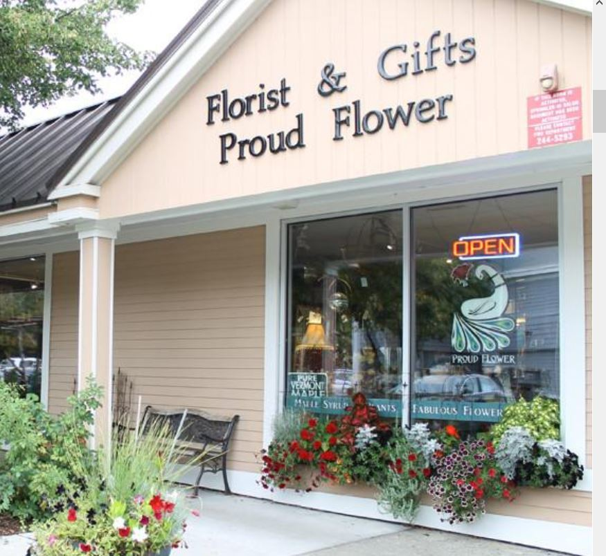 Storefront photo of Proud Flower, 80 South Main Street • On the Park • Waterbury, VT 05676