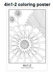 Screen clip of the glossy 4in1-2 Flower Mosaic Coloring Poster by Infinity Art LLC