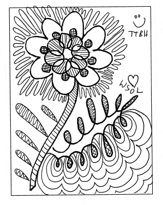 Photo of the Berry 14, colored in black ink for sympathy TTBH try to be happy WSOL we send our love
