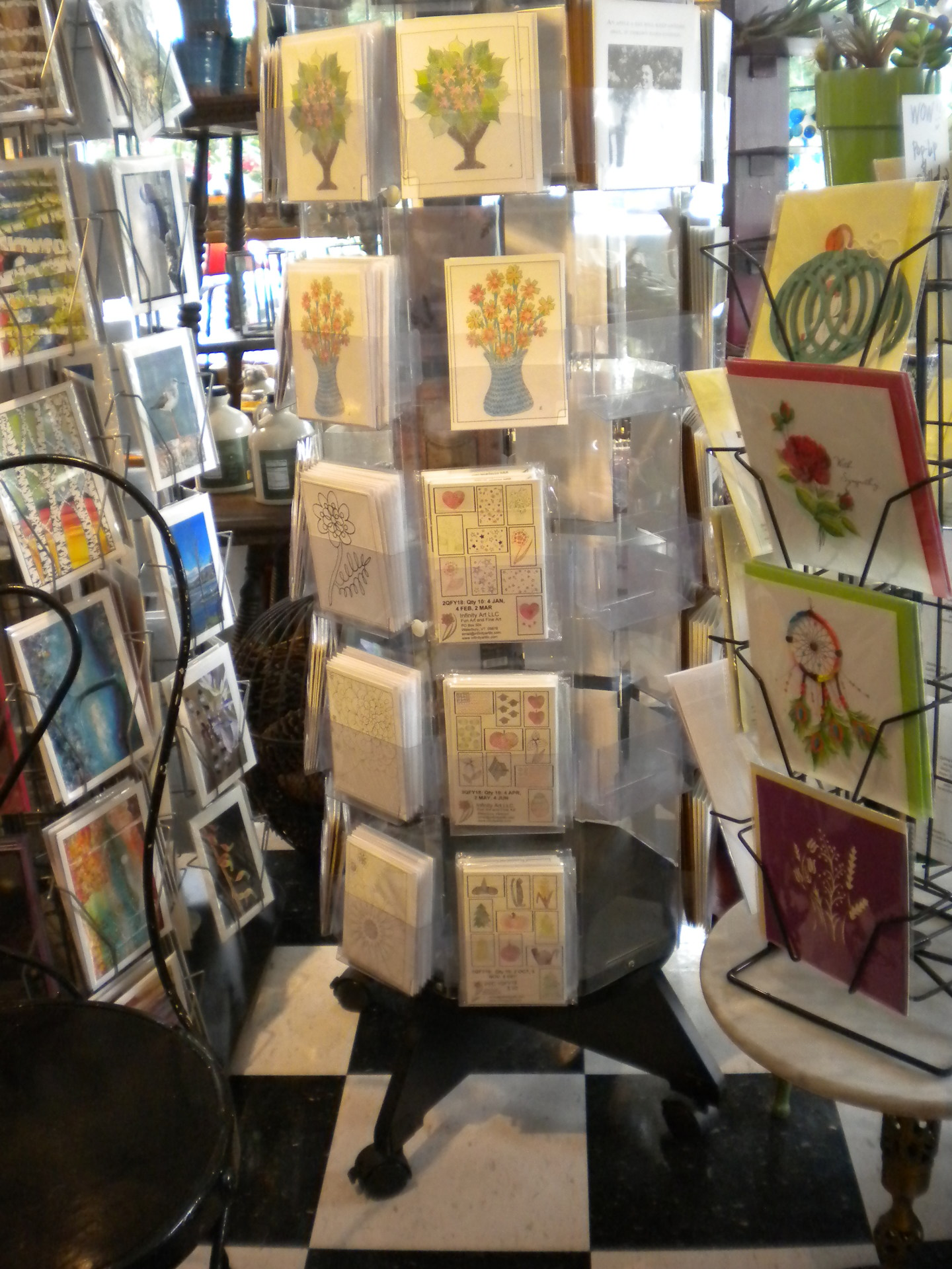 Photo of the Seasonal-Holiday poscard sets at Proud Flower, Waterbury VT.