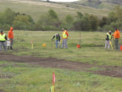 UXO Team Performing Subsurface Clearance Operations