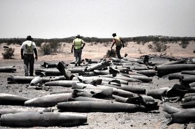 UXO Team Inspecting Demolition Results