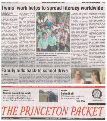 Princeton Packet Article Online