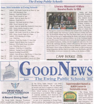 Ewing School Newspaper Article