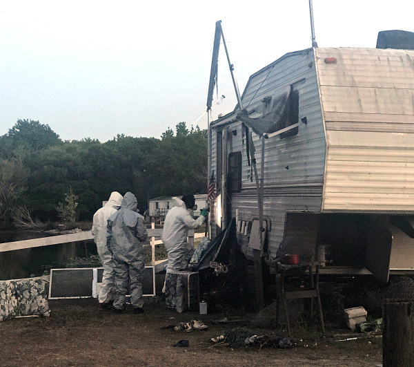 Warrant issued after meth lab found in camper