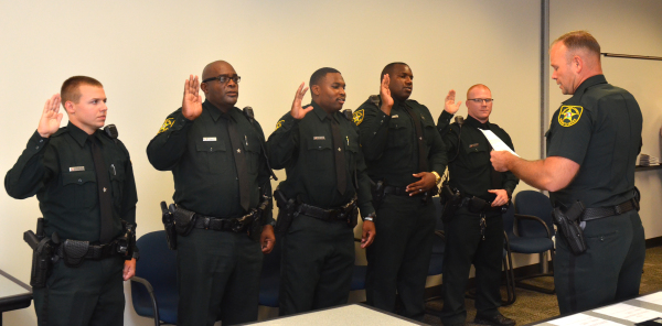 Family affair: Five deputies sworn in to HCSO