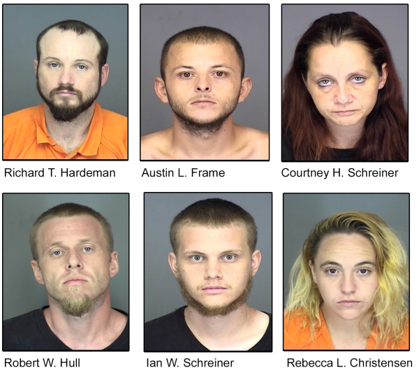Traffic stop leads to 14 arrests, 66 felony charges, 341 grams of meth