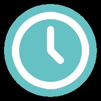 efficient icon, clock