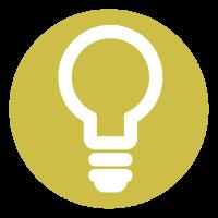 ingenious icon, light bulb
