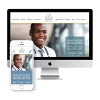 This is a preview of the responsive site design created for Good Samaritan Clinic.