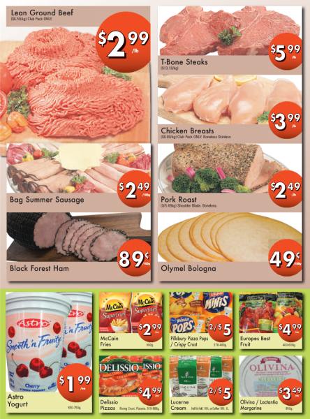 Meat / Deli / Dairy / Frozen