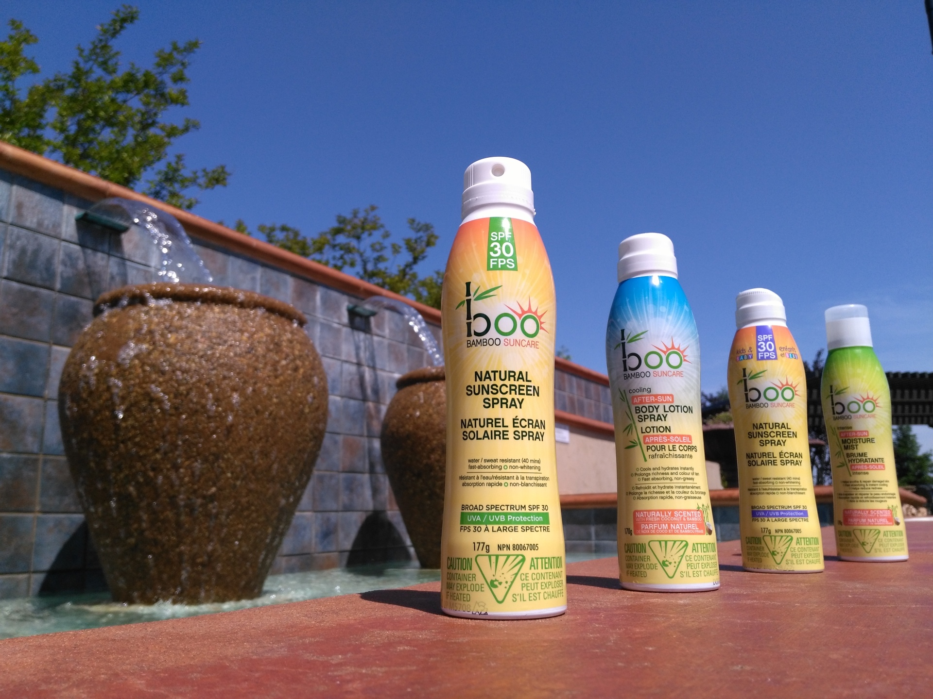 Boo Bamboo, an example of gluten free sunscreen I recommend