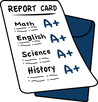 Provide a copy of your child's last report card.