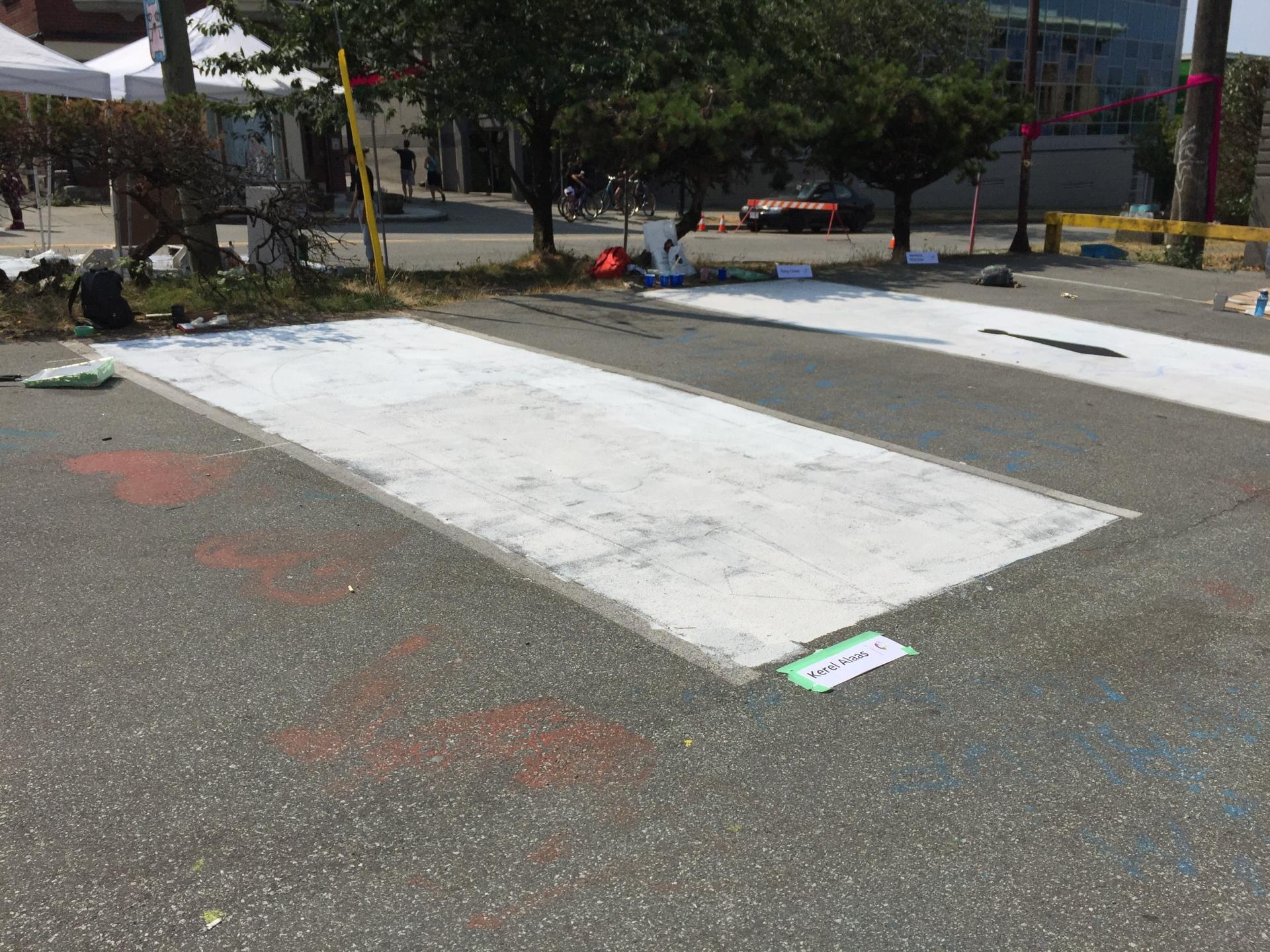 Parking Stall Progress