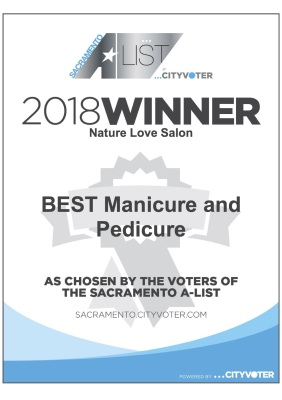 #1 on Sacramento's A-LIST for Best Manicure & Pedicure!