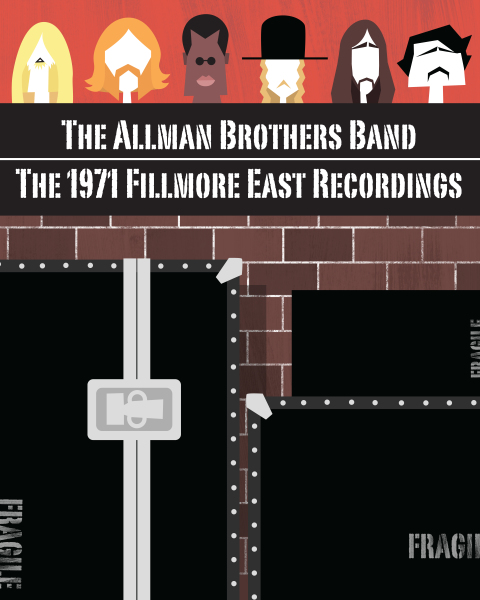 Allman Brothers Fillmore East Recordings poster (unused)