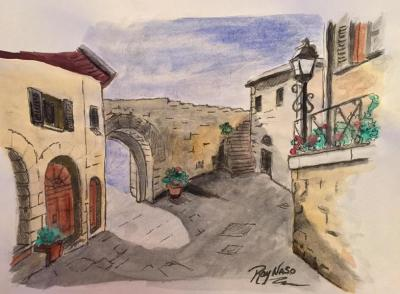 Tuscan Villa - by Ray Naso