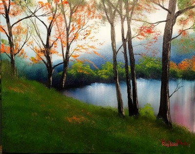 Autumn Lake - by Ray Naso